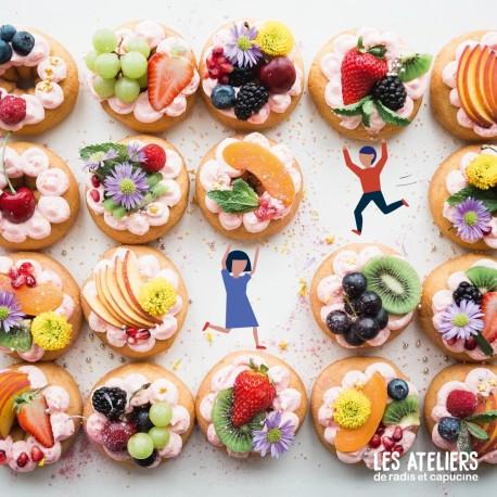Atelier enfants en cuisine :tartelette de saison comme un chef