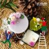 Atelier Bougies moulées avec fleurs et feuilles séchées