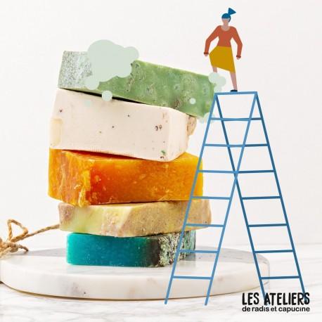Atelier fabrication de savon saponifié à froid bio 500 g