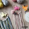Atelier enfant : fabrication suspension en macramé