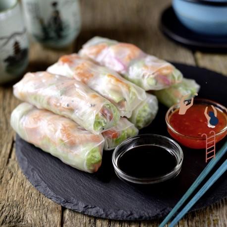 Cours cuisine vietnamienne:Rouleaux de printemps et entremets aux cornilles et riz gluant